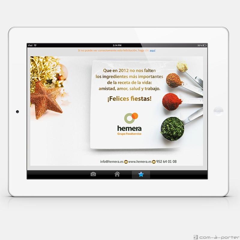 Felicitación electrónica de año nuevo 2012 (Hemera Grupo Foodservice)