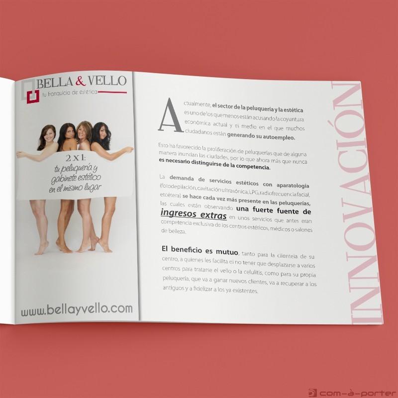 Maquetación de Dossier de franquicia de BELLA & VELLO