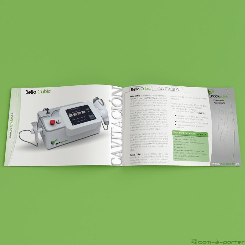 Maquetación de dossier de productos de Body Pulse