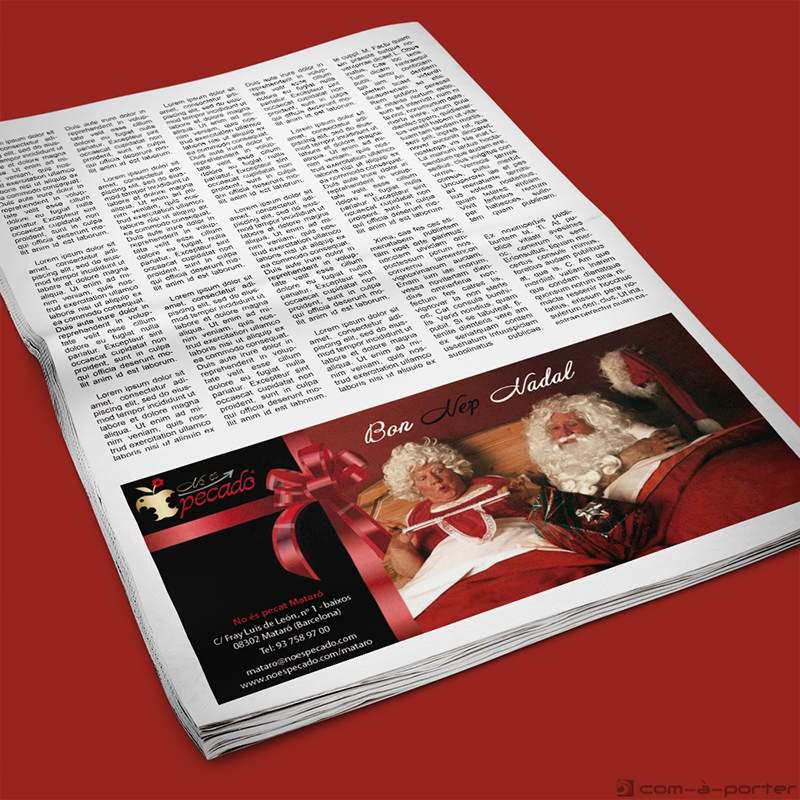 Medias páginas, faldón y robapágina de No Es Pecado
