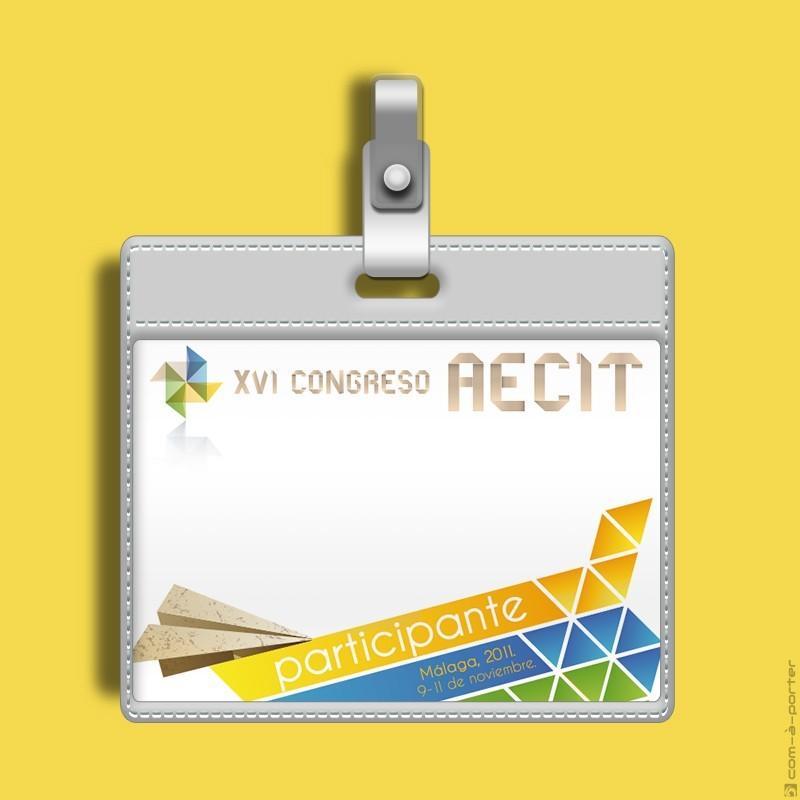 Diseño de Acreditaciones para Organización y Participantes del XVI Congreso AECIT