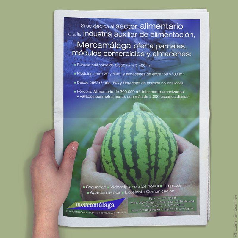 Página completa de Publicidad de Mercamálaga
