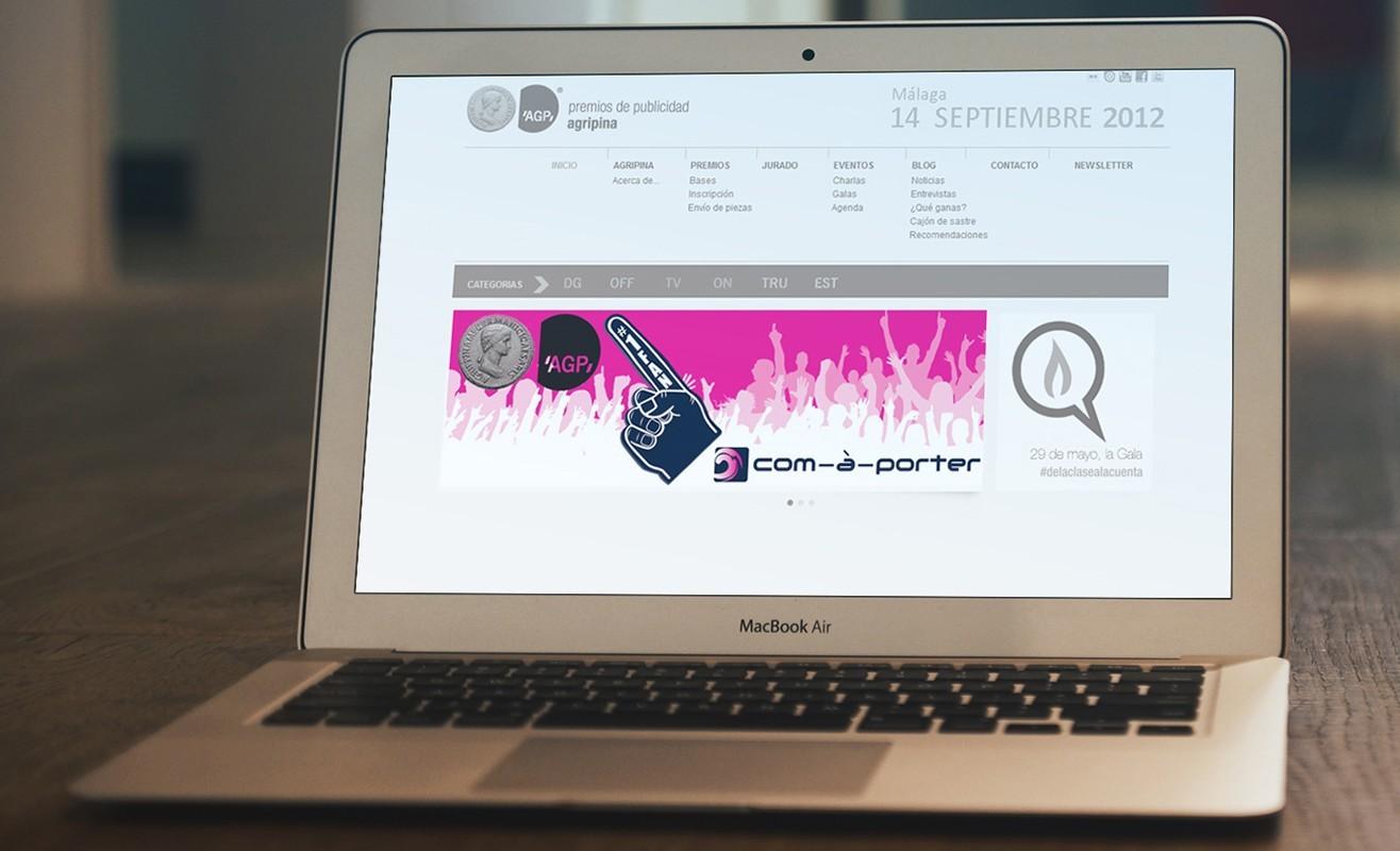 """Banner """"Yo soy Fan"""" para web de Premios de Publicidad Agripina"""