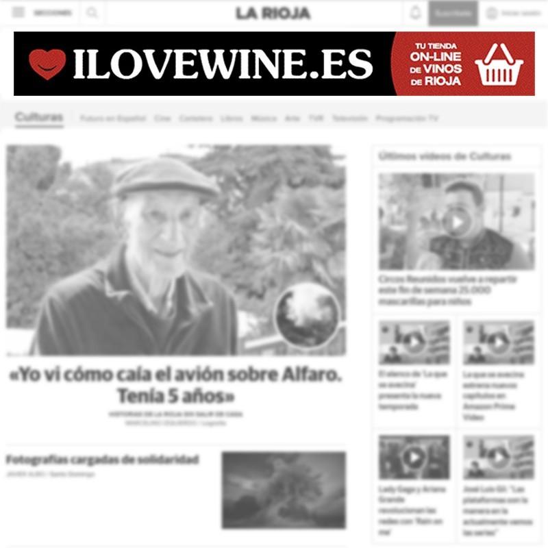 Megabanner publicitario de ILOVEWINE para diarios de prensa nacional online