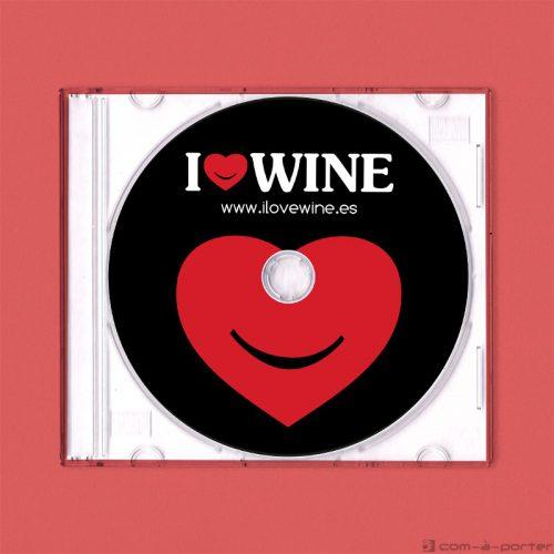 Diseño de galleta de disco CD de ILOVEWINE