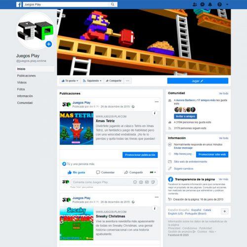 Gestión del perfil de Facebook de Juegos-Play
