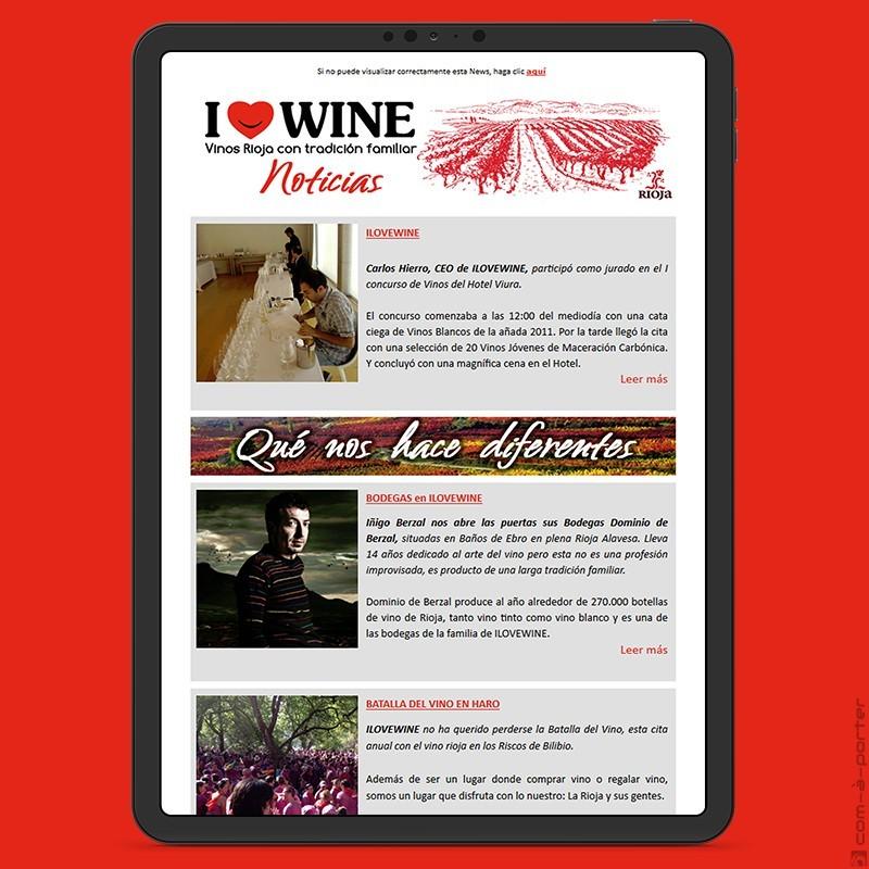 Newsletter de ILOVEWINE