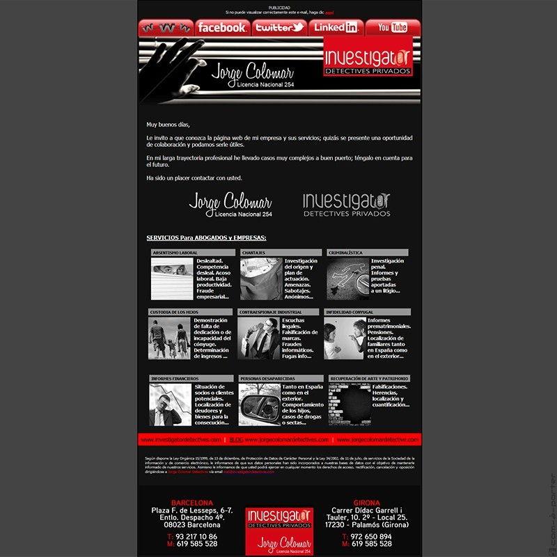 Newsletters de Investigator Detectives Privados (2012)