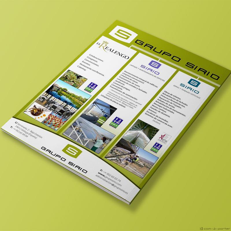 Página completa de Publicidad Corporativa de Grupo Sirio