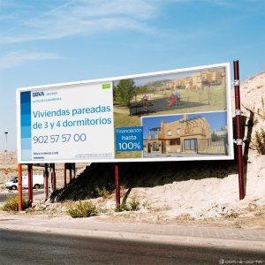 Campaña gráfica exterior para la comercialización de la promoción de BBVA Vivienda