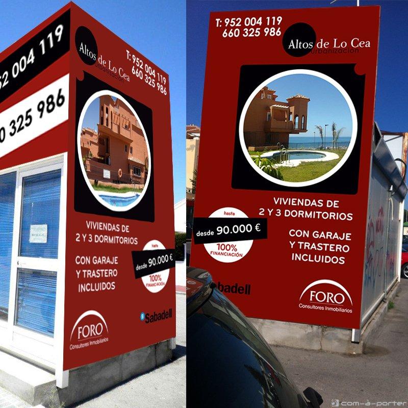 Campaña gráfica exterior para la comercialización de la promoción de FORO Consultores Inmobiliarios