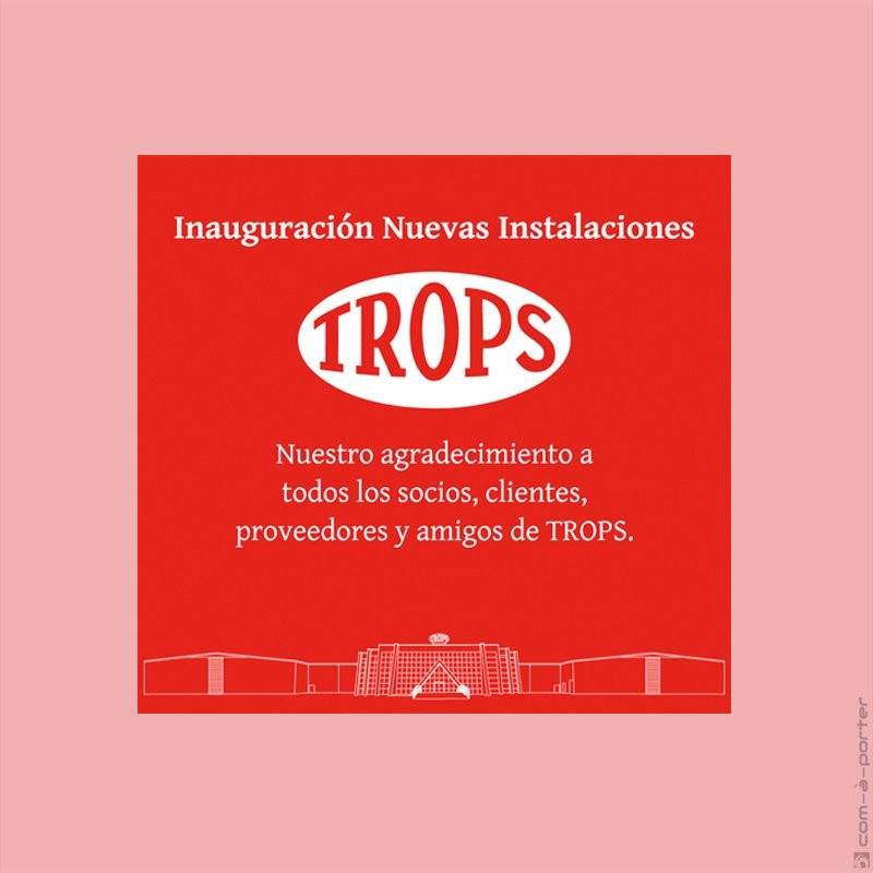 Robapágina de publicidad de la inauguración de nueva sede de Trops