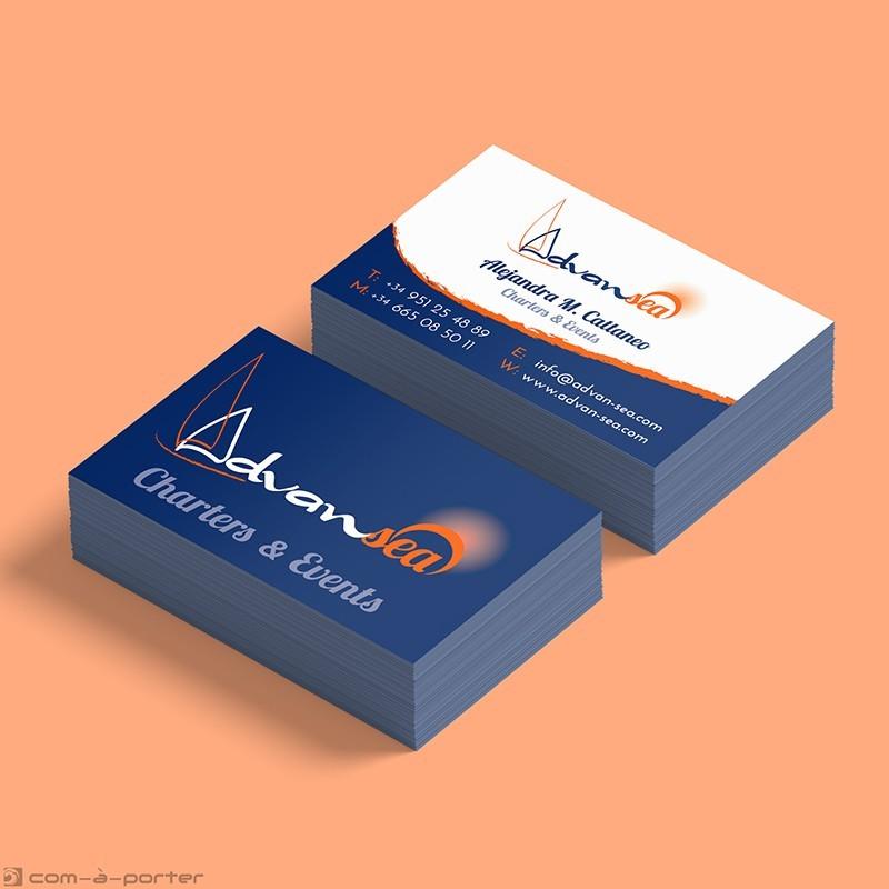 Tarjeta de visita y firma de email de Advansea