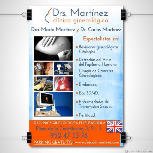 Cartel corporativo de Clínica Ginecológica Drs. Martínez