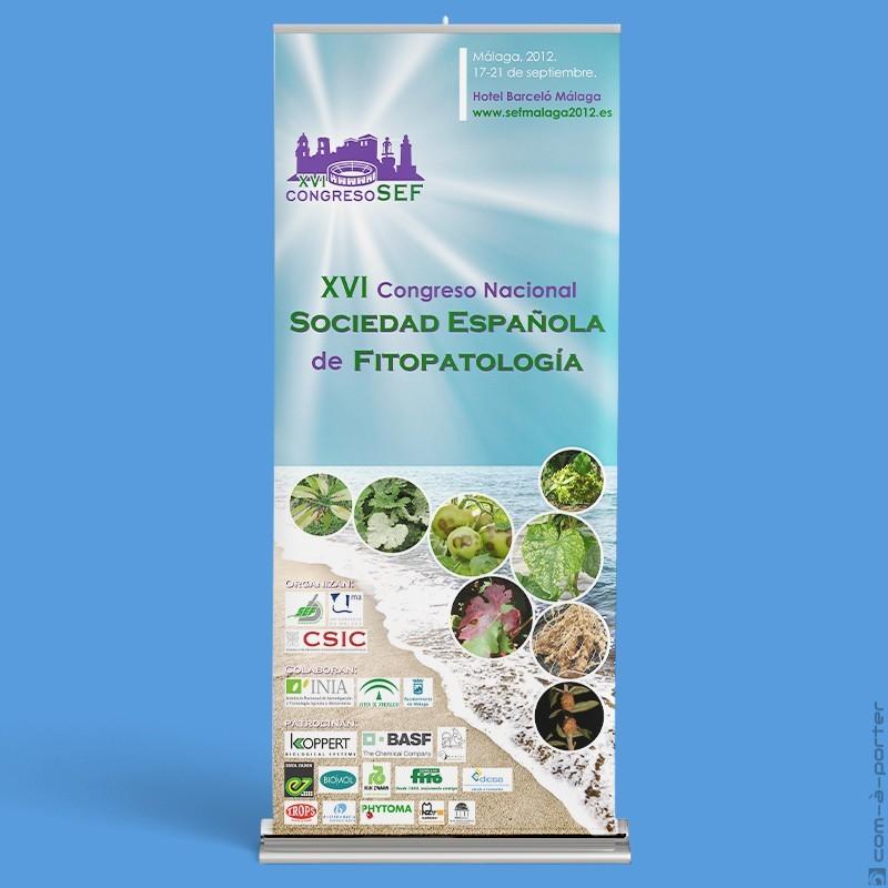 Cartelería del XVI Congreso Nacional de la Sociedad Nacional de Fitopatología