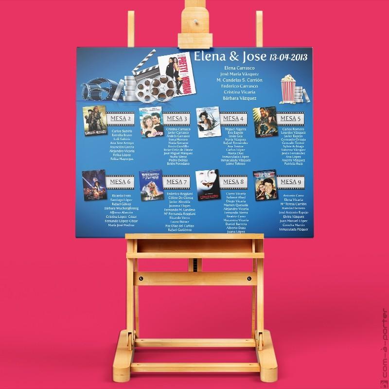Cartel de Invitados y mesas personalizadas para boda particular