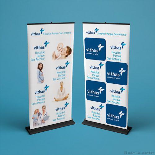 Displays corporativos de Vithas Hospital Parque San Antonio