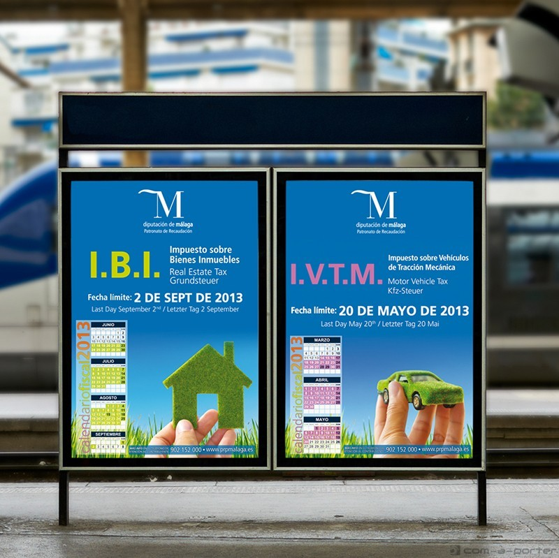 Carteles informativos de los impuestos provinciales IBI e IVTM