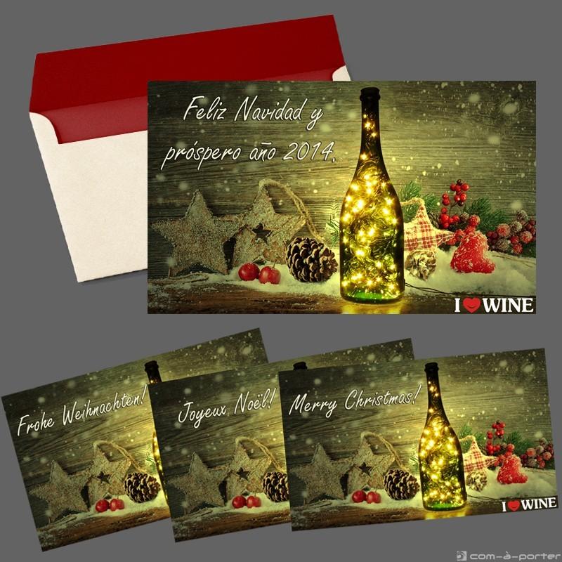 Diseño de Tarjetón – Felicitación de Navidad y próspero 2014 (ILOVEWINE)