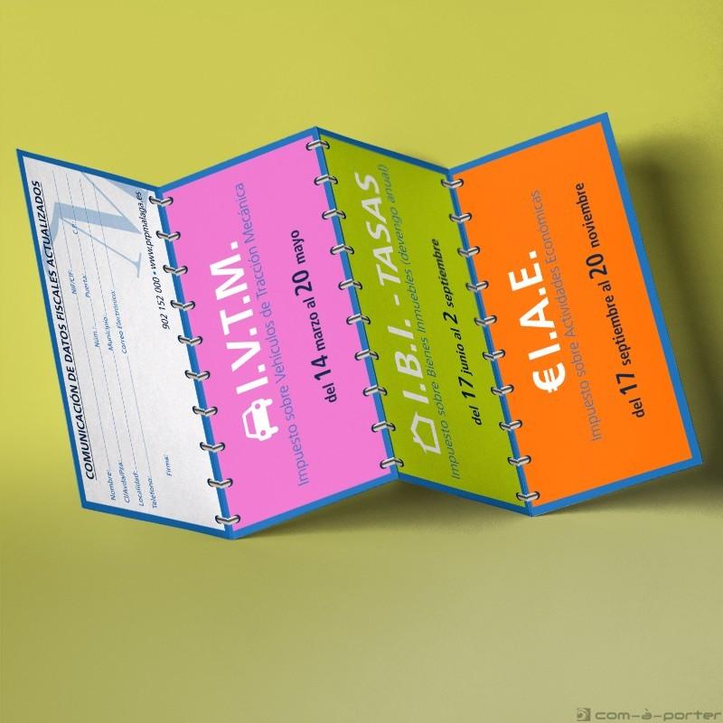 Cuadríptico informativo de los impuestos provinciales (Patronato Provincial de Recaudación)