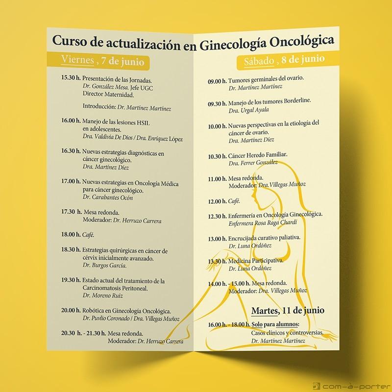 Díptico - programa de Congreso de Ginecología Oncológica