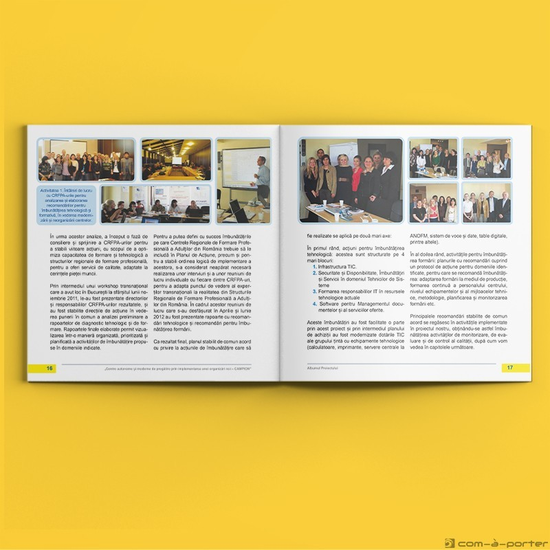 """Maquetación de catálogo para proyecto """"Campion"""" en Rumanía"""