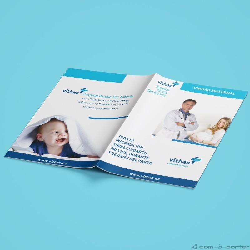 Maquetación de Guía de Unidad Maternal de Vithas Hospital Parque San Antonio