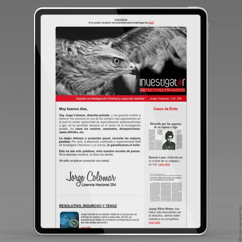 Newsletters de Investigator Detectives Privados (2013)