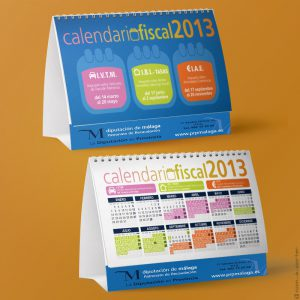 Diseño de calendario (fiscal) del Patronato de Recaudación de Málaga