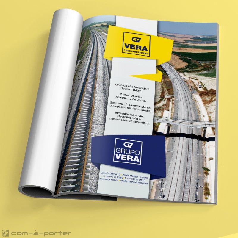 Página Completa de Publicidad de Construcciones Vera