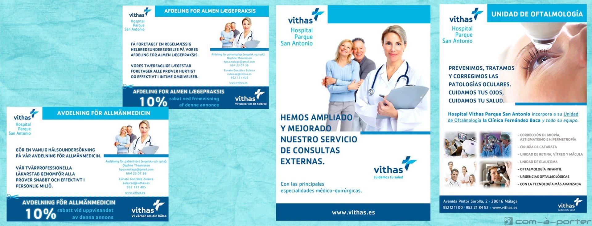 Páginas completas y medias páginas de Publicidad de Vithas Hospital Parque San Antonio