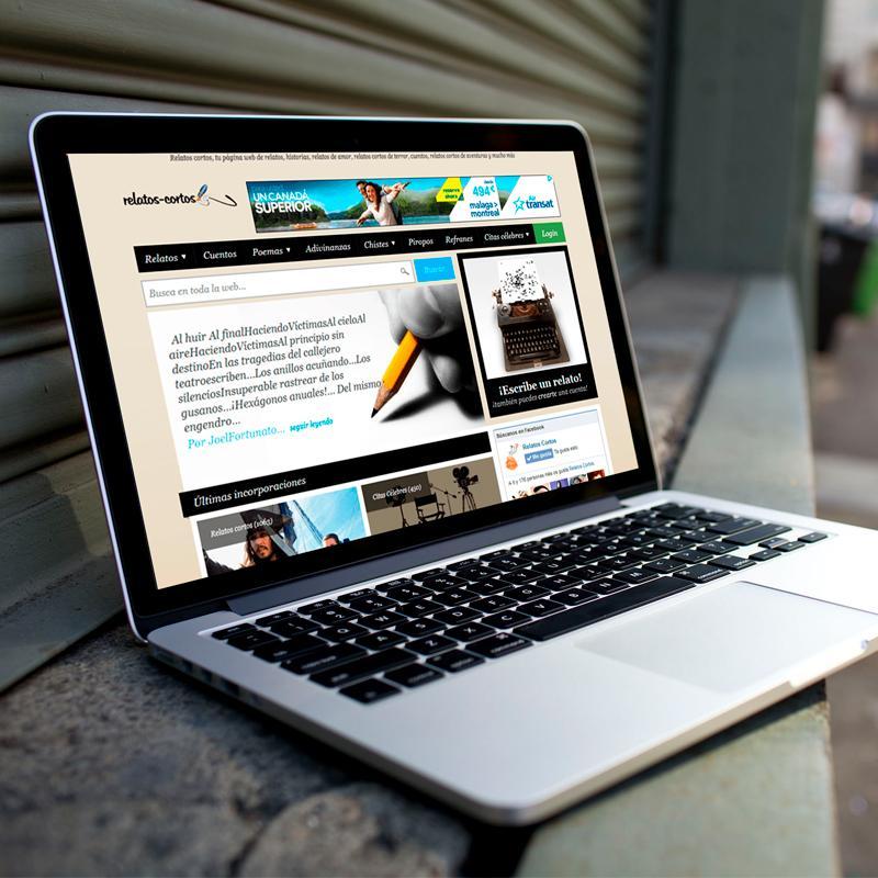 Página web de Relatos Cortos