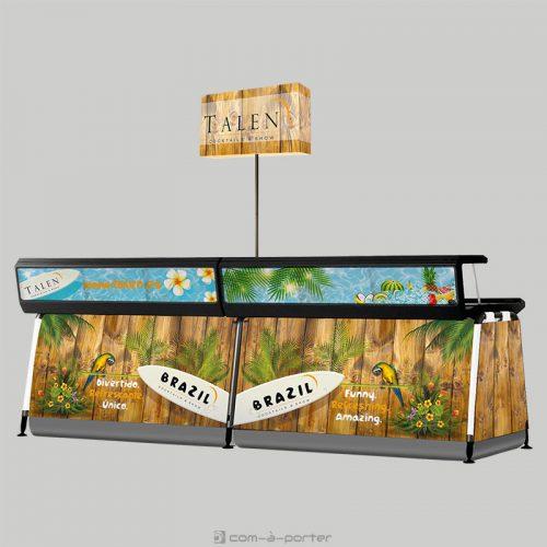 Barra portátil para ferias y eventos de TALEN Cocktails & Show