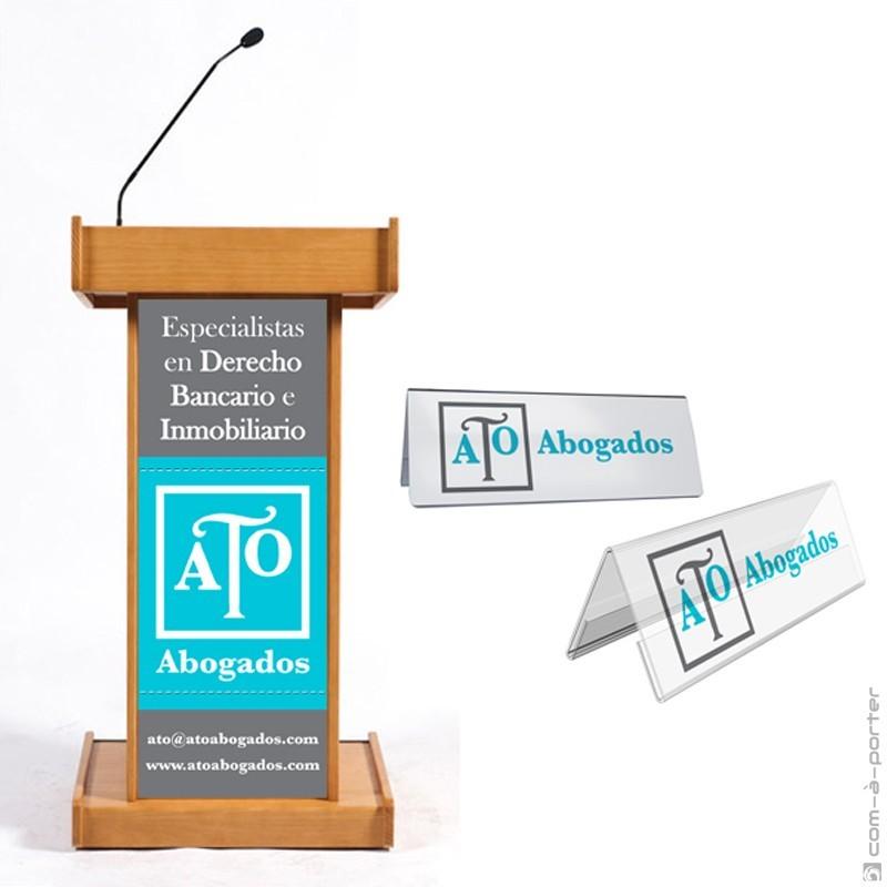 Cartelería corporativa para eventos de ATO Abogados SLP