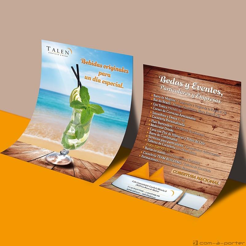 Flyer publicitario de TALEN Cocktails & Show