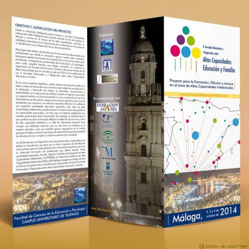 Tríptico - programa de las II Jornadas Nacionales y I Regionales sobre Altas Capacidades