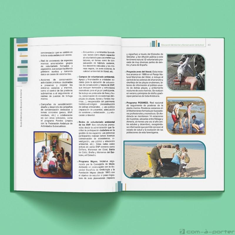 Maquetación del libro IV de la colección Guías Didácticas de Educación Ambiental. Conservación del Litoral
