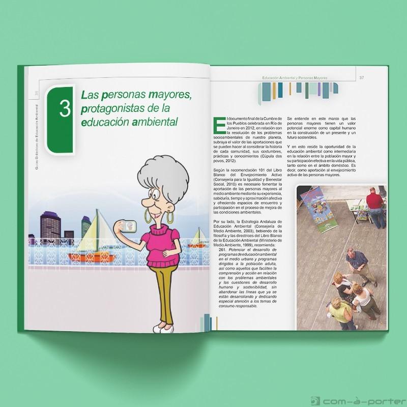 Maquetación del libro II de la colección Guías Didácticas de Educación Ambiental. Personas Mayores
