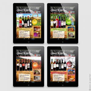 Newsletters Cuatro Estaciones (2014) de ILOVEWINE