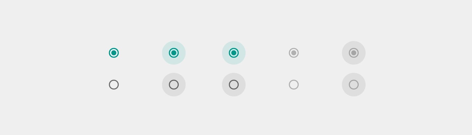 Radio button con estilo CSS3