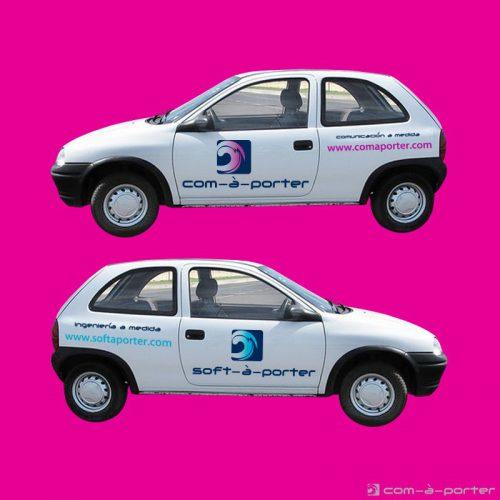 Diseño de rotulación del vehículo de Grupo Vaz :)