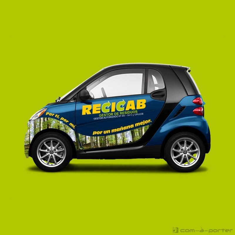 Diseño de rotulación de smart de Recicab