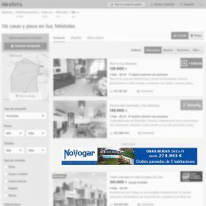 Megabanner de agencia inmobiliaria en Móstoles (Madrid) para portal inmobiliario www.idealista.com