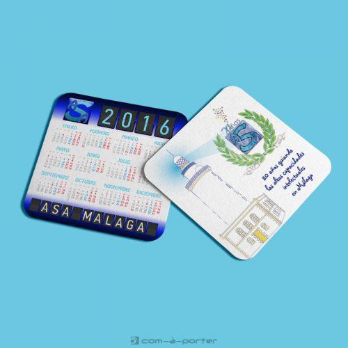 Diseño de calendario de bolsillo 2016 de ASA Málaga
