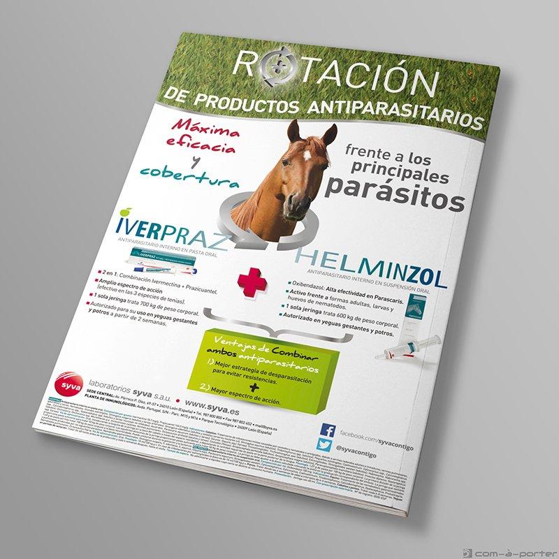 Página completa de Publicidad de productos antiparasitarios para Equipos de Laboratorios Syva
