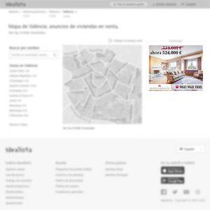 Banner robapágina de agencia inmobiliaria en Valencia para portal inmobiliario www.idealista.com