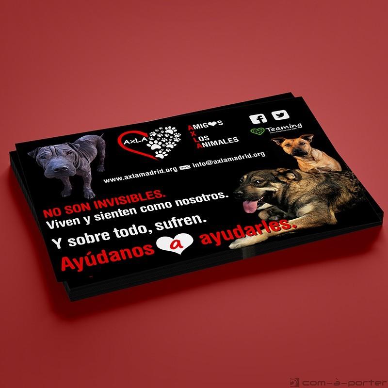 Flyer de Difusión de la ong AXLA Amigos X Los Animales