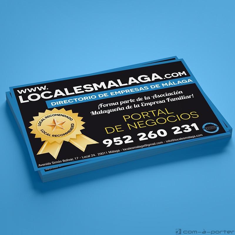Flyer comercial del portal de negocios www.localesmalaga.com