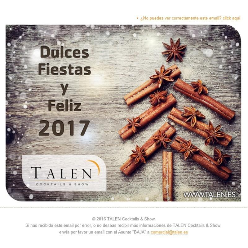 Felicitación de Navidad 2016 de TALEN Cocktails & Show