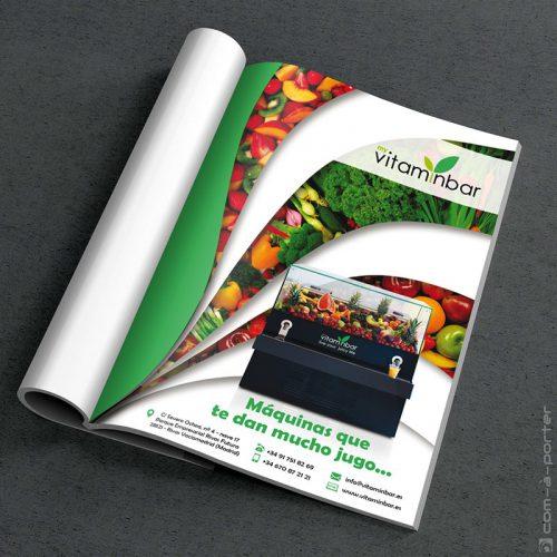 Página de Publicidad de My VitaminBar para la revista de Foro Hospec